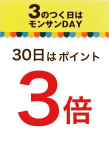30日3倍